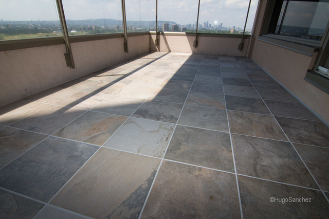 Outdoor Balcony Tile American Traditional Terrace Montreal By Ceramiques Hugo Sanchez Inc