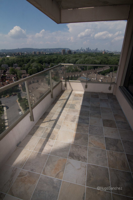Outdoor Balcony Tile Traditional Deck Montreal By Ceramiques