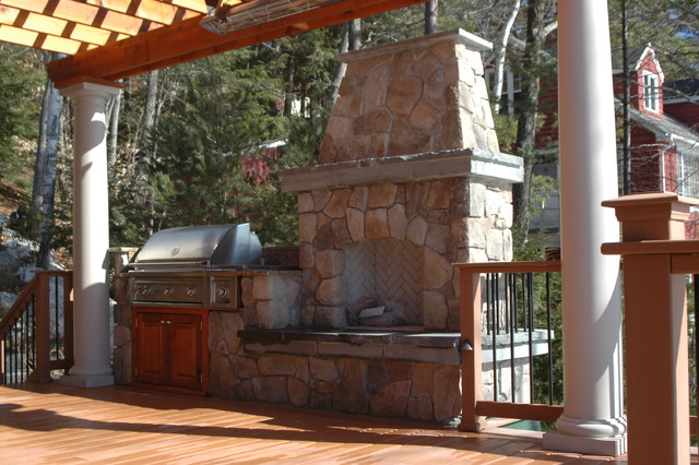 Outdoor barbecue traditional-deck