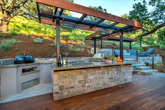 Outdoor Bbq Midcentury Deck San Francisco By