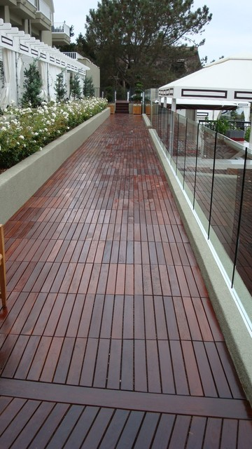 Outdoor deck tiles modern deck san diego by design for Garden decking squares