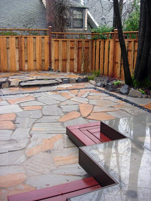 Outdoor eclectic-deck