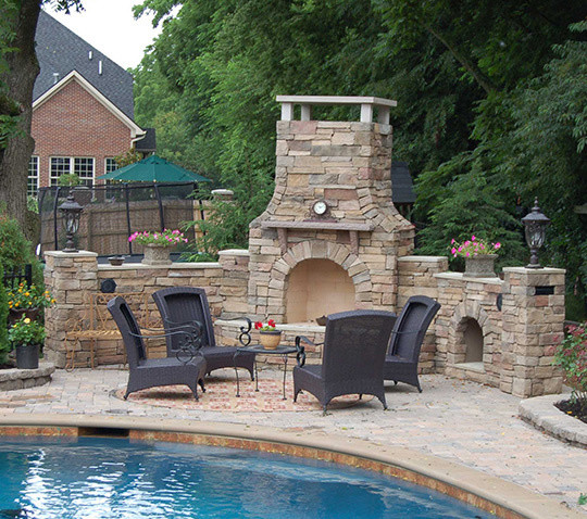 Beau Outdoor Fireplace Kits   30 In Pre Engineered Arched Masonry Outdoor  Fireplace Mediterranean
