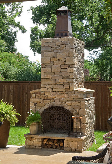 Exceptionnel Outdoor Fireplace Kits   36 In Pre Engineered Arched Masonry Outdoor  Fireplace Mediterranean