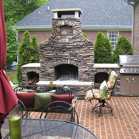 Outdoor Fireplace Kits 42 In Pre Engineered Arched