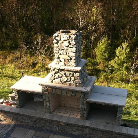 Outdoor Fireplace Kits - 42-In Pre-Engineered Masonry Outdoor ...