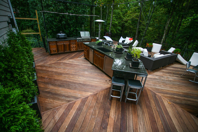 outdoor kitchen 3 contemporary deck atlanta by cabinets of
