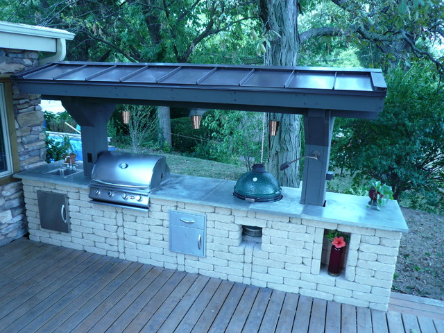 Outdoor Kitchen Traditional Deck Chicago By Barnett