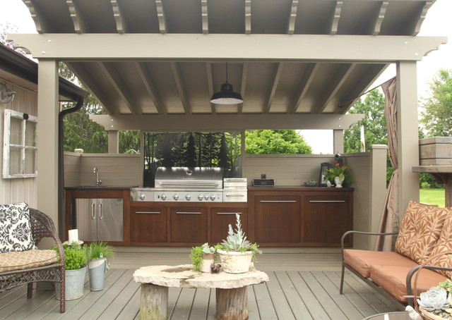 Outdoor Kitchen Contemporary Deck Other Metro By LP Wood Ltd