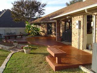 Outdoor living traditional deck dallas by capstone for Capstone exterior design firm