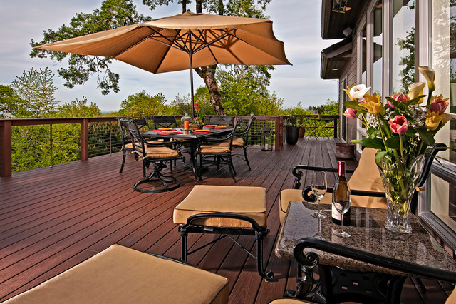 Outdoor living space contemporary deck portland by for Contemporary outdoor living spaces