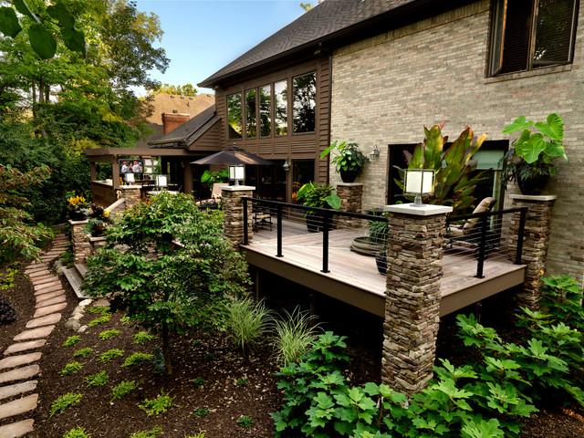 Outdoor Spaces Traditional Deck Cincinnati By