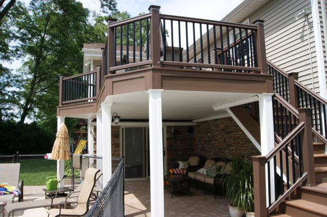 Over & Under PVC deck and Hard Scape traditional-deck