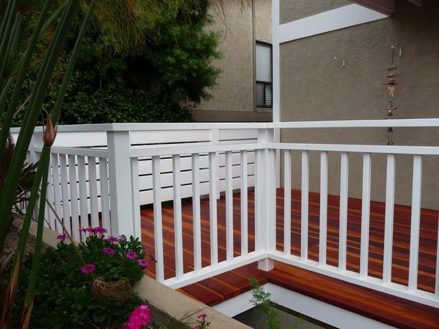 Painted Redwood Deck Railings Manhattan Beach Beach