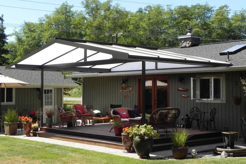 Patio Covers Create Year Round Outdoor Living Space ... on Farmhouse Outdoor Living Space id=49153