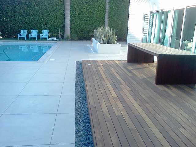 Pebble Installations Modern Deck Miami By Miami