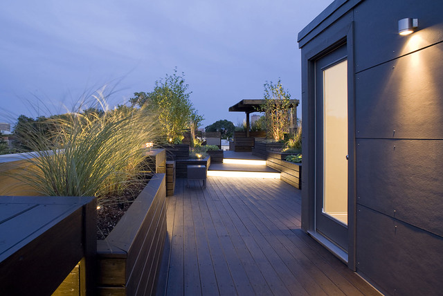 Penthouse Amp Drink Ledge Contemporary Deck Chicago