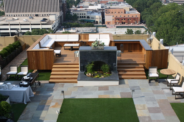 Penthouse rooftop garden contemporary deck for Garden on rooftop designs