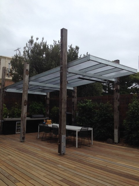 pergola covered with twinwall polycarbonate sorrento. Black Bedroom Furniture Sets. Home Design Ideas