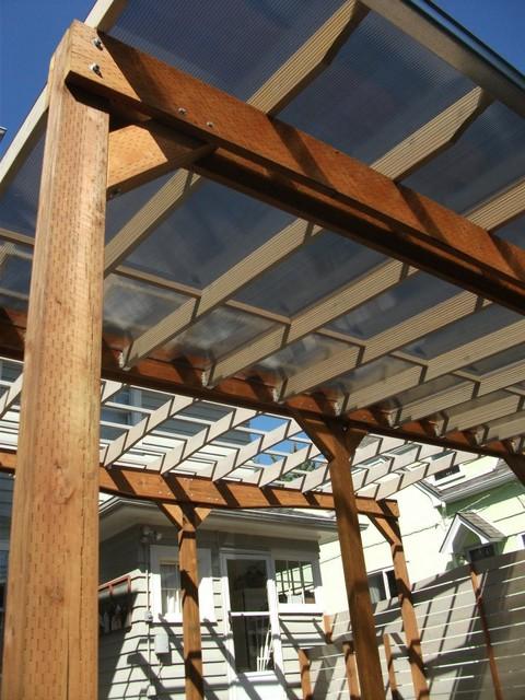 Pergola Eclectic Deck Portland By Design Vessel