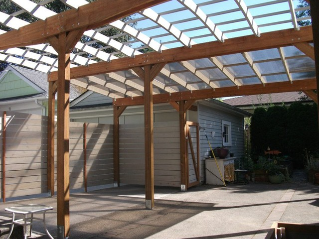 how to build simple deck with pergola