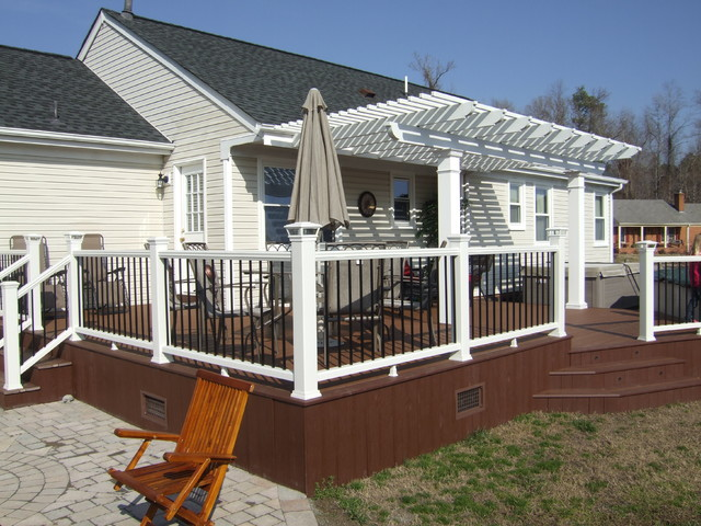 Pergola Trex Deck Custom Railings