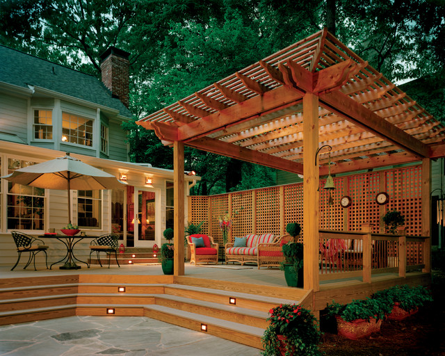 Pergolas traditional-deck - Pergolas - Traditional - Deck - Atlanta - By Atlanta Decking & Fence