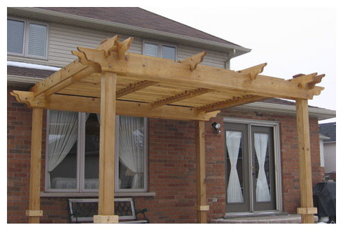 Pergolas Craftsman Deck Other Metro By Flexfence