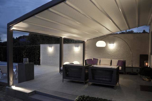 Pergolas - Outdoor Motorized Shade Structure - Modern - Deck ...