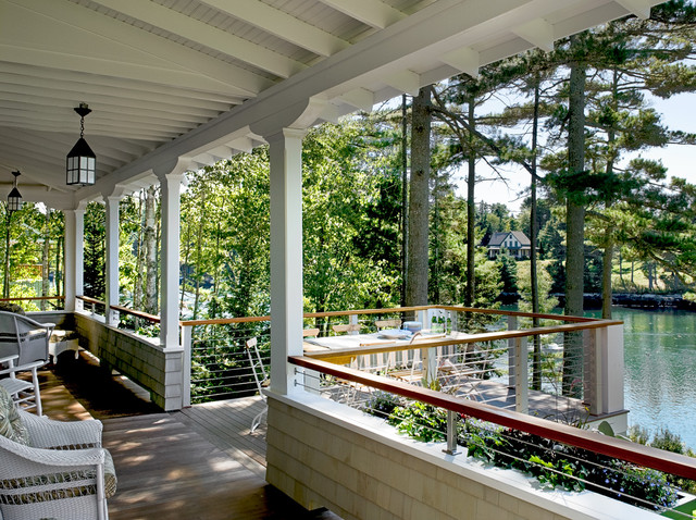 Pinewold Beach Style Porch Portland Maine By
