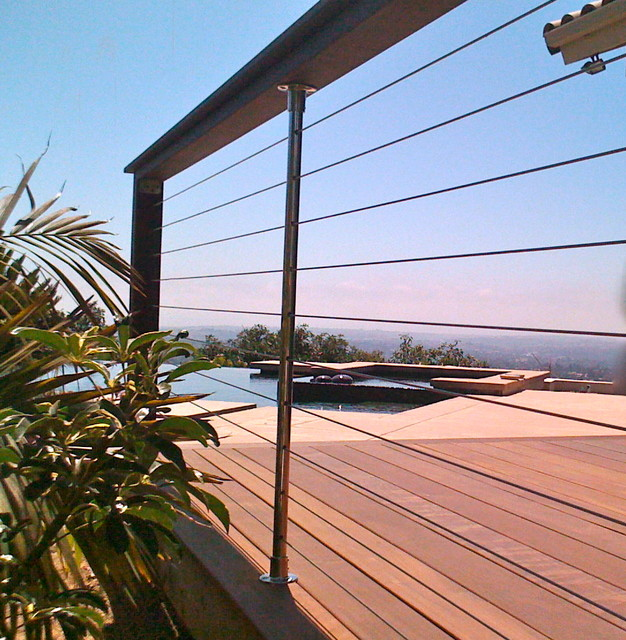 Pool fencing modern deck other by san diego cable