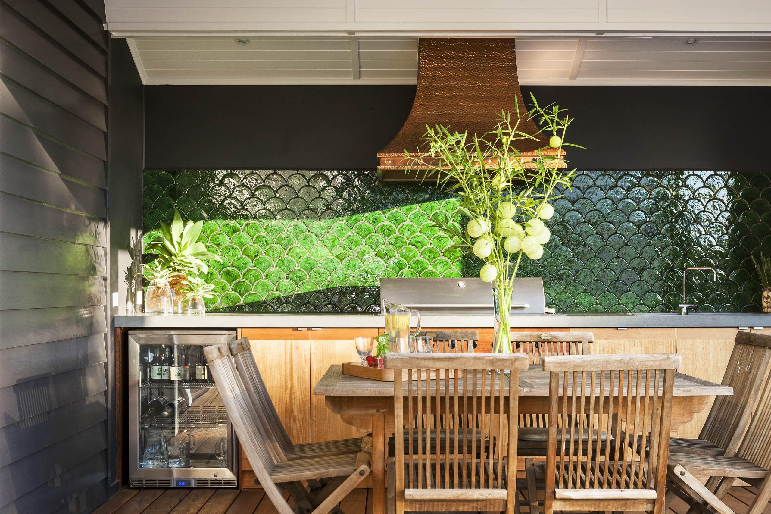 Outdoor Kitchen Backsplash Ideas Photos Houzz