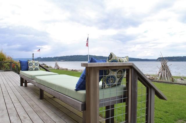 Port Gamble Beach House beach-style-deck