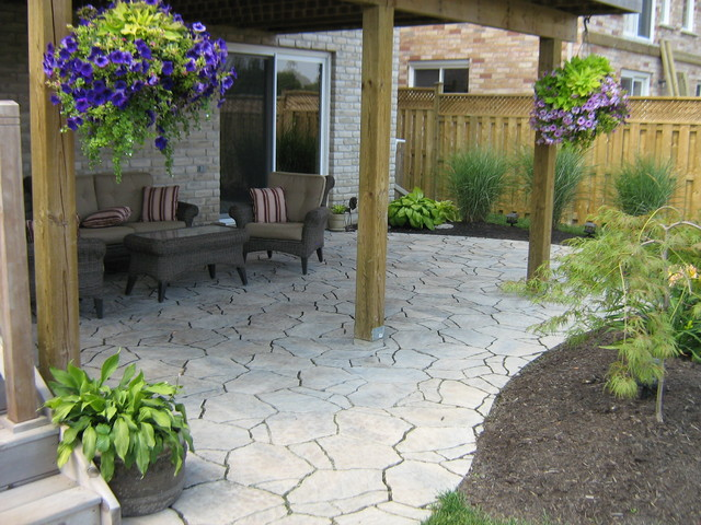 deck mid sized traditional backyard deck idea in toronto with a pergola - Patio Under Deck