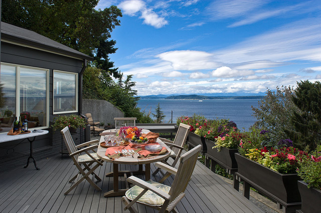 Puget Sound views beach-style-deck
