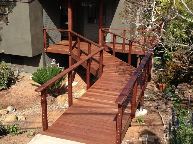 Raised Walkway Beach Style Deck San Diego By SD
