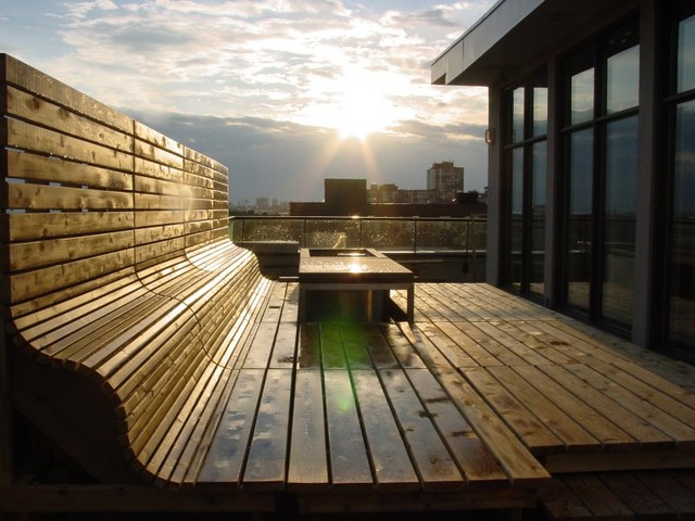 raising the roof with western red cedar contemporary-deck