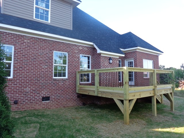 Rear Elevation Traditional Deck Charlotte By