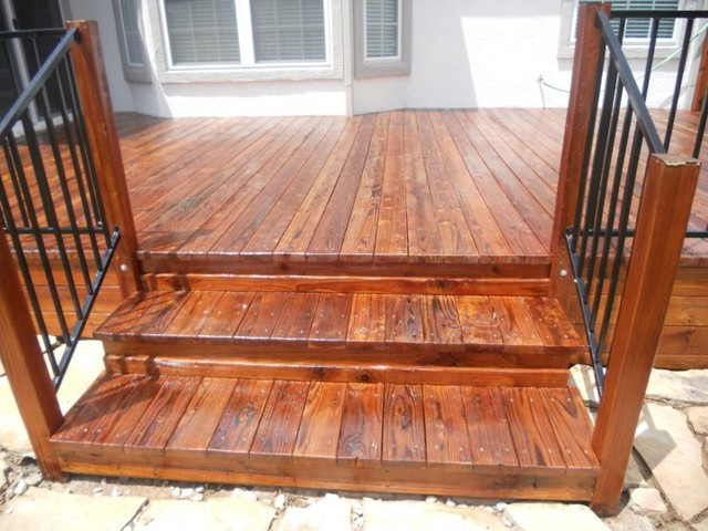 Redwood Deck Refinish/Restoration & Staining - Traditional - Deck ...