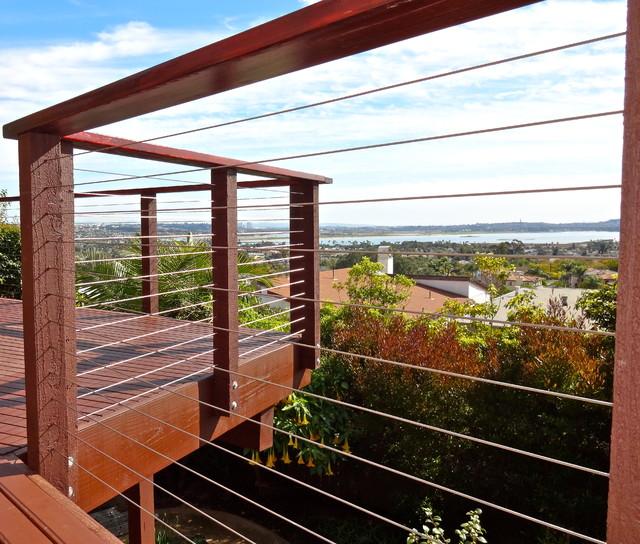 Residential Deck Cable Railing Modern Deck San Diego