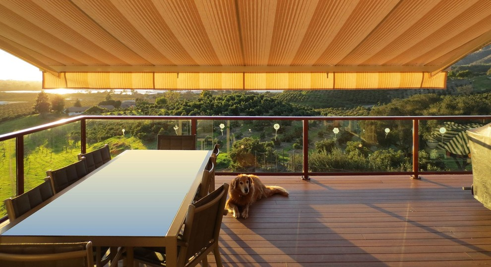 Retractable Awning Patio Cover - Traditional - Deck - Los ...