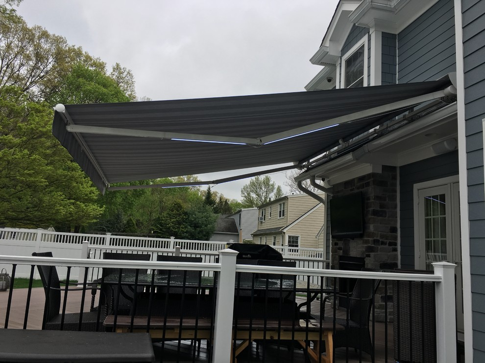 Retractable Awning with Led Lights - Modern - Deck - New ...