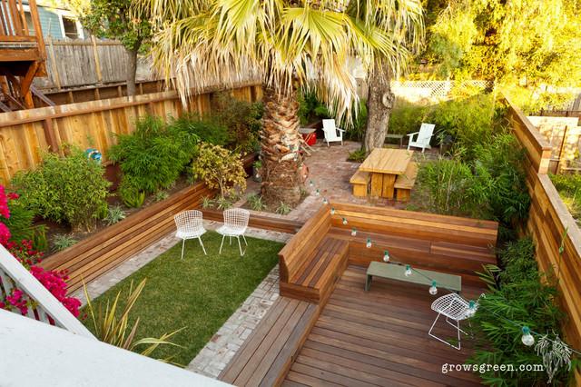 Rhode Island Garden Contemporary Deck San Francisco