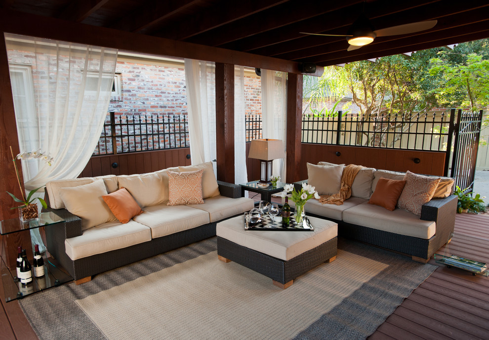 Example of a trendy deck design in New Orleans