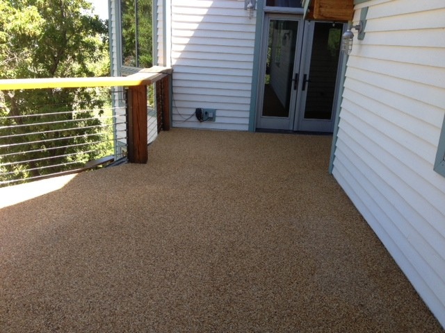rock carpet waterproof deck - Rustic - Deck - salt lake city - by Hard Rock Concrete Coatings