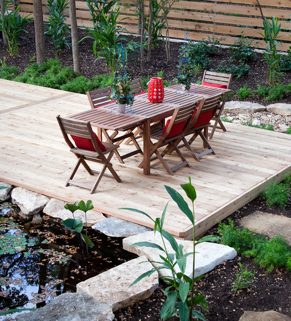 Rollingwood deck and koi pond contemporary deck for Koi pond deck