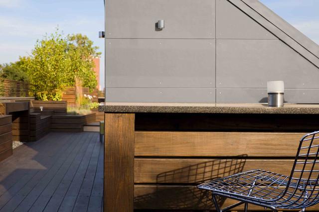 Roof Deck Bar Top contemporary-deck