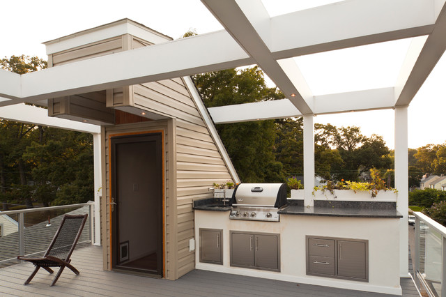 Roof Top Deck Contemporary Deck Baltimore By T W