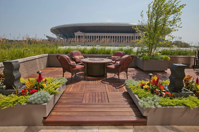 Roof Top Gardens Contemporary Deck Chicago By