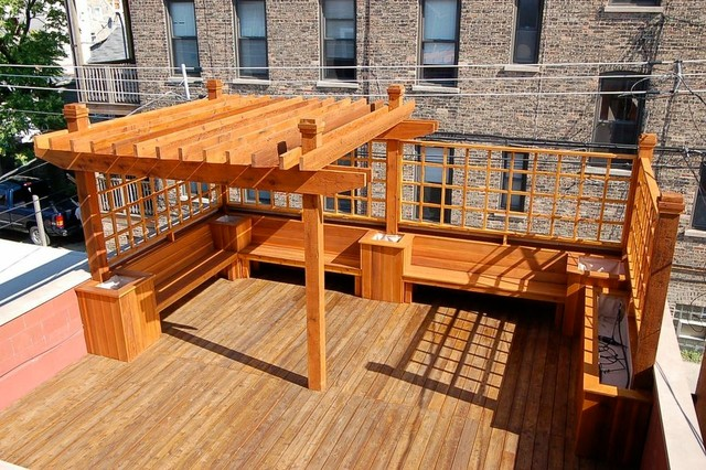 Rooftop deck in chicago transitional deck chicago for Roof deck design